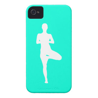 iPhone 4 Case-Mate Yoga 1 Silhouette Turquoise