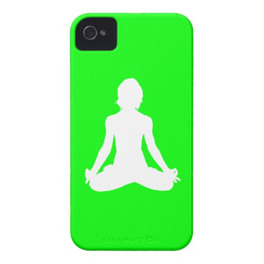 iPhone 4 Case-Mate Yoga Silhouette Green iPhone 4 Cover