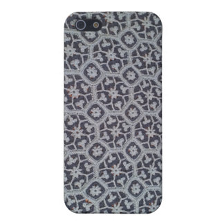iPhone 4 Case Matte Finish Crochet Afghan Blue