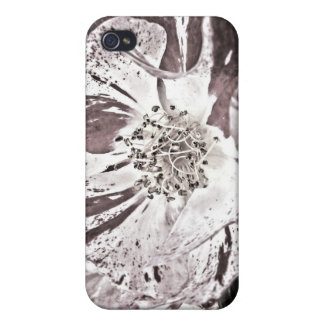 iPhone 4 Case - Pale Red Flowers