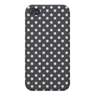 iPhone 4 Case Pattern Black Polka Dots