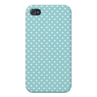 iPhone 4 Case Pattern Blue Polka Dots