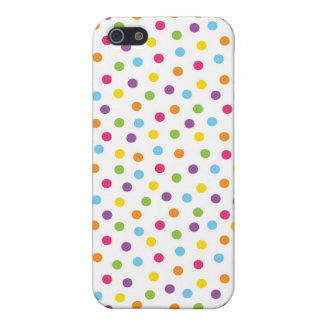 iPhone 4 Case Pattern Bright Polka Dots