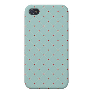 iPhone 4 Case Pattern Classic Blue Checkered