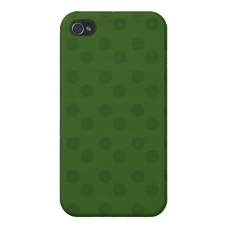 iPhone 4 Case Pattern Green Polka Dots