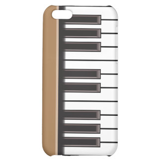 iPhone 4 Case - Piano Keys on Brown