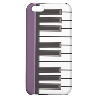 iPhone 4 Case - Piano Keys on Eggplant