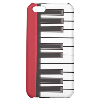 iPhone 4 Case - Piano Keys on Red