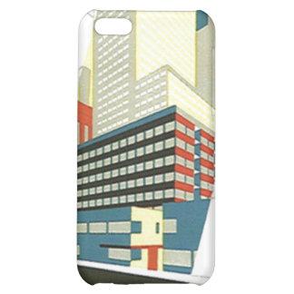 iPhone 4 Case Retro cityscape skyscrapers building