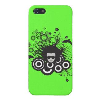 iPhone 4 Case - Retro Face/Dolphins