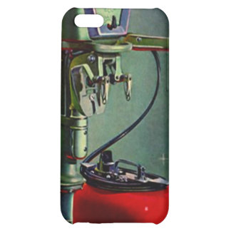 iPhone 4 Case Retro fishing boat motor red tank