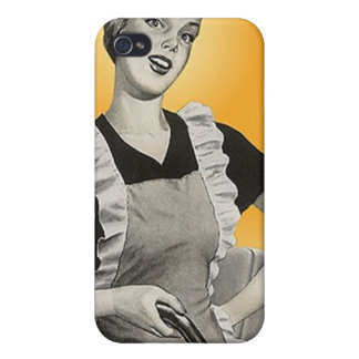 iPhone 4 Case Retro home maker housecleaning chore