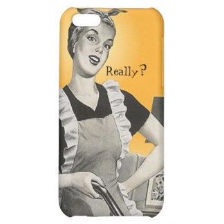 iPhone 4 Case Retro housewife housecleaning chores