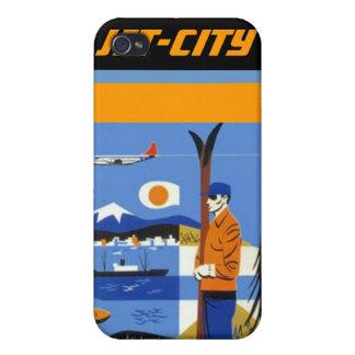 Iphone 4 Case Retro Jet-City design northwest ads