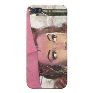 iPhone 4 Case Retro Pink Umbrella Rainy Day rain