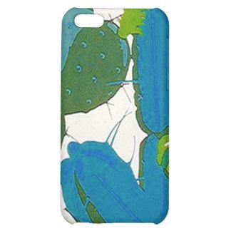 iPhone 4 Case Retro Turquoise Aqua Cacti cactus