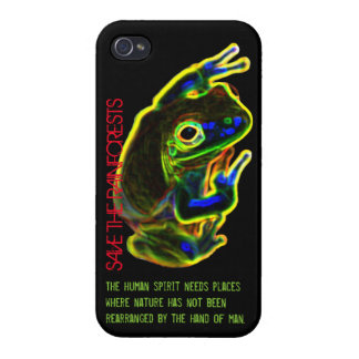 iPhone 4 Case: SAVE THE RAINFORESTS iPhone 4 Cases