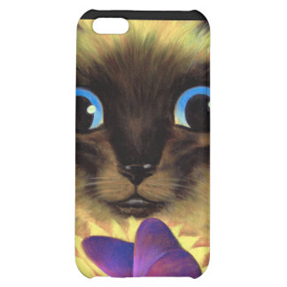 iPhone 4 Case Siamese Cat Butterfly Painting