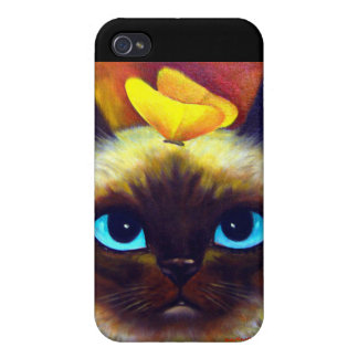 iPhone 4 Case Siamese Cat Painting Art