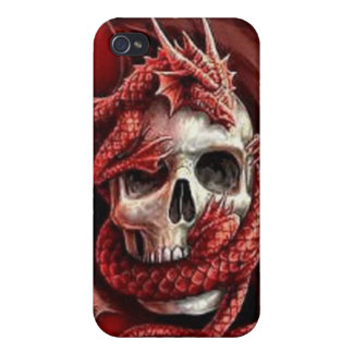IPhone 4 Case - Skull and Medieval Dragon
