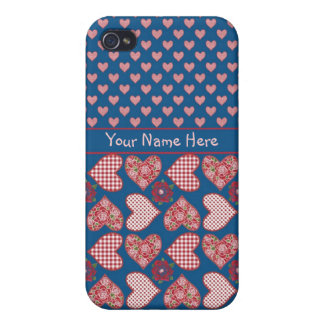 iPhone 4 Case to Personalize Hearts and Roses