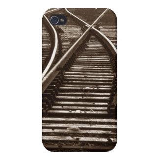 iPhone 4 Case Train travel railroad tracks switch