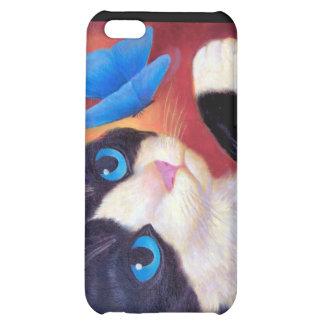 iPhone 4 Case Tuxedo Cat Painting Art