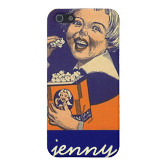 Iphone 4 Case Vintage advertising label popcorn
