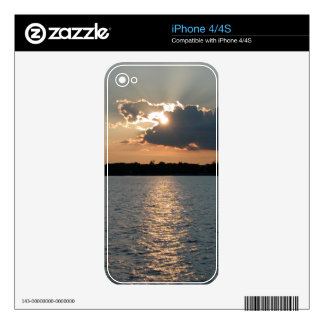 iPhone 4 case with photo of silver-lining sunset Skins For iPhone 4S