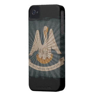 Iphone 4 Case with state flag of Louisiana