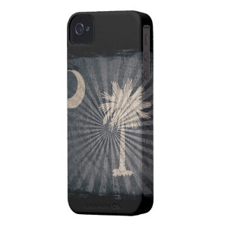Iphone 4 Case with state flag of South Carolina