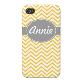 iphone 4 case yellow chevron customize name
