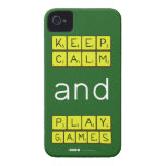 KEEP CALM and PLAY GAMES  iPhone 4 Cases