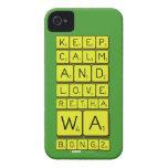 keep calm and love Retha wa Bongz  iPhone 4 Cases