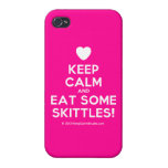 [Love heart] keep calm and eat some skittles!  iPhone 4 Cases