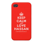[Crown] keep calm and love hassan  iPhone 4 Cases