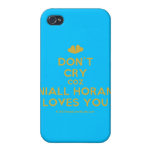 [Two hearts] don't cry coz niall horan loves you  iPhone 4 Cases