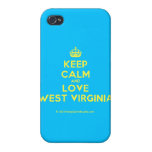 [Crown] keep calm and love west virginia  iPhone 4 Cases