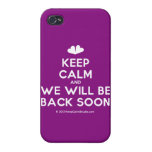 [Two hearts] keep calm and we will be back soon  iPhone 4 Cases