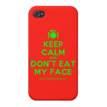 [Cutlery and plate] keep calm and don't eat my face  iPhone 4 Cases
