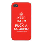 [Crown] keep calm and fuck a scorpio  iPhone 4 Cases