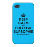 [Crown] keep calm and follow supsophie  iPhone 4 Cases