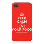 [Crown] keep calm and eat your food  iPhone 4 Cases