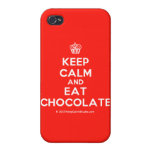 [Cupcake] keep calm and eat chocolate  iPhone 4 Cases