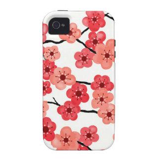 iPhone 4 - caso 4s con las flores de cerezo Vibe iPhone 4 Carcasas