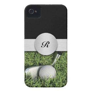 iPhone 4 casos del golf del monograma iPhone 4 Case-Mate Fundas