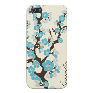 iPhone 4 Cherry Blossom Speck Case (aqua)