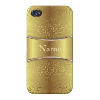 iPhone 4 damascos abstractos florales listos del c iPhone 4 Protector