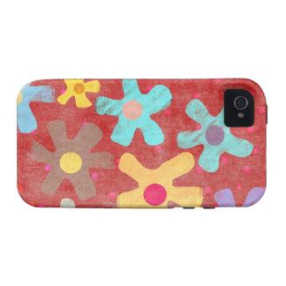 Iphone 4 de la caja de las flores Case-Mate iPhone 4 carcasa