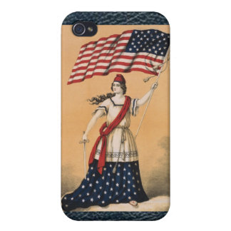 iPhone 4 de señora Speck Case de la bandera americ iPhone 4/4S Fundas